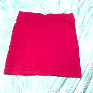 Hot pink forever 21 pencil skirt.